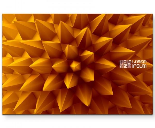 Abstrakte Illustration – orangefarbene Pyramiden - Leinwandbild