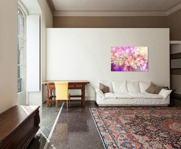 120x80cm Blumen Blüte farbenfroh abstrakt Hintergrund