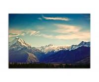 120x80cm Neuseeland Berge Gipfel Schnee Natur