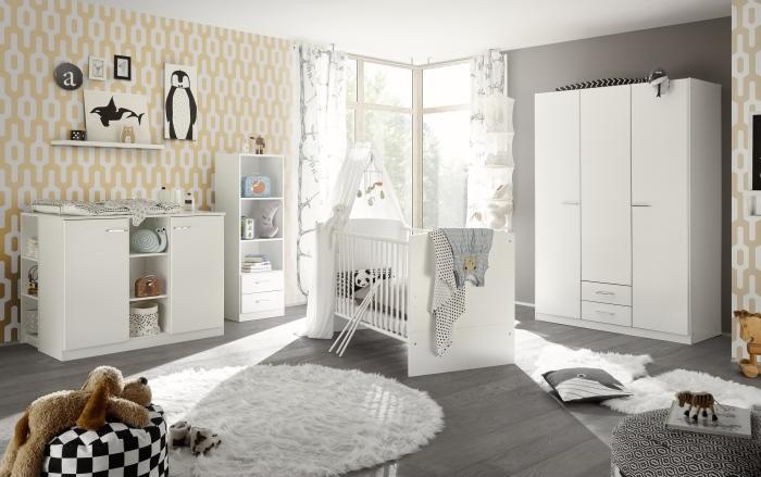 Babyzimmer Ella in Weiß matt 7 teiliges Megaset