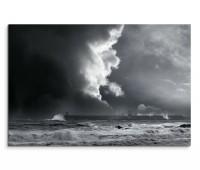 120x80cm Wandbild Portugal Meer Sturm Gewitter Wolken