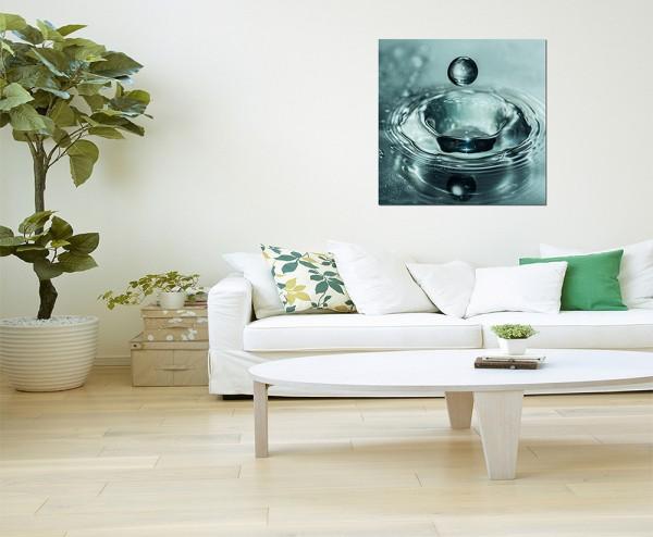 80x80cm Wasser Wassertropfen makro