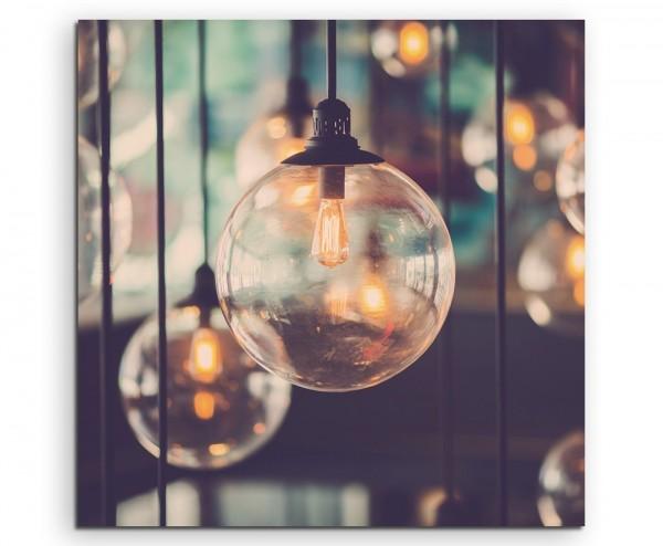 Künstlerische Fotografie – Designer Glühbirnen auf Leinwand