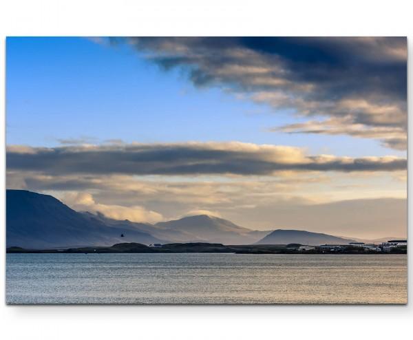 Fjordlandschaft in Island - Leinwandbild