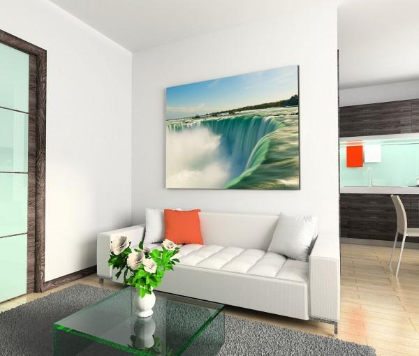 120x80cm Wandbild Wasserfall Nahaufnahme