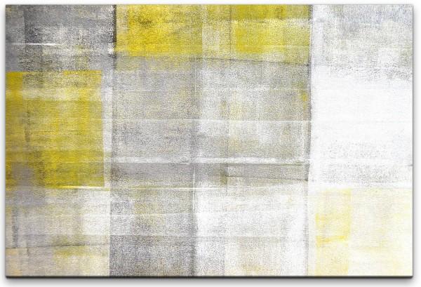grau und gelb Wandbild in verschiedenen Größen
