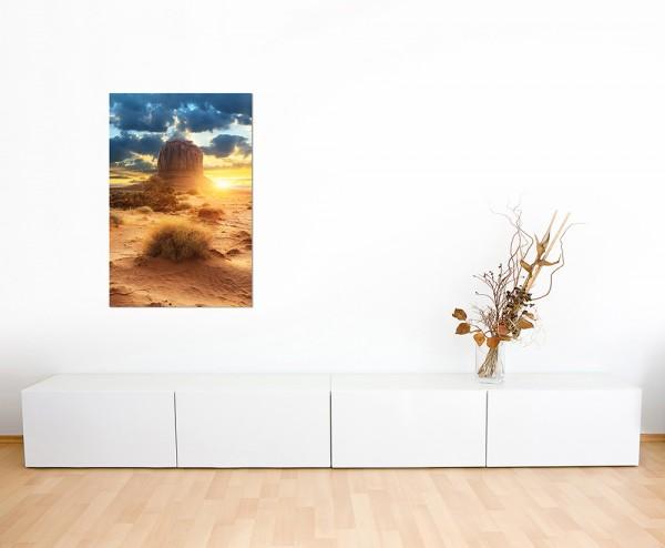 120x60cm Amerika Landschaft Sonnenuntergang Fels