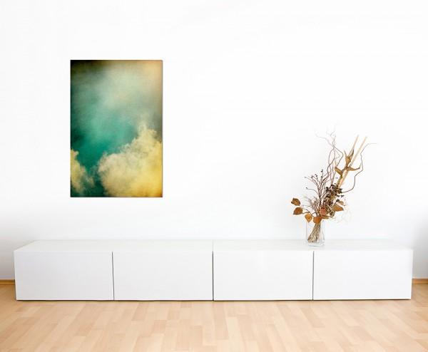 120x80cm Wolken Schleier grün abstrakt