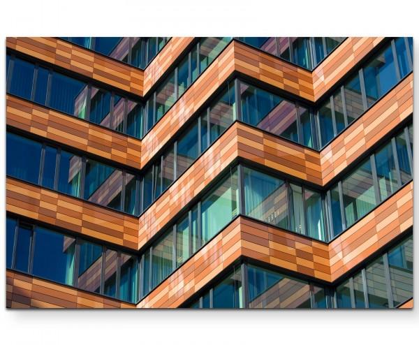 Abstrakte Architektur – Glasfenster - Leinwandbild