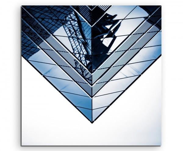Architekturfotografie – Modernes Glasgebäude auf Leinwand