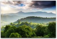 Bepflanzte Berge Wandbild in verschiedenen Größen