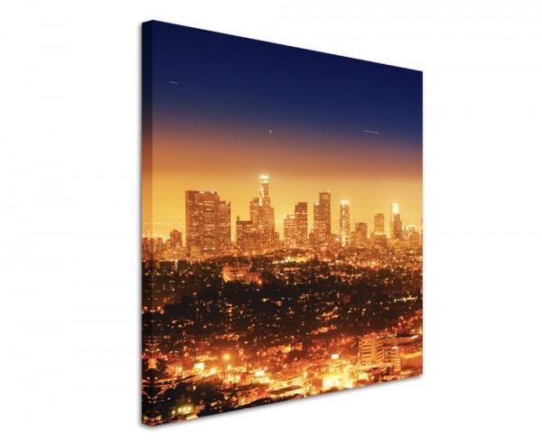 Urbane Fotografie – Los Angeles bei Nacht, Kalifornien, USA auf Leinwand