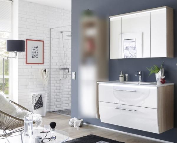 Badezimmer Sonoma Hochglanz 2 teilig