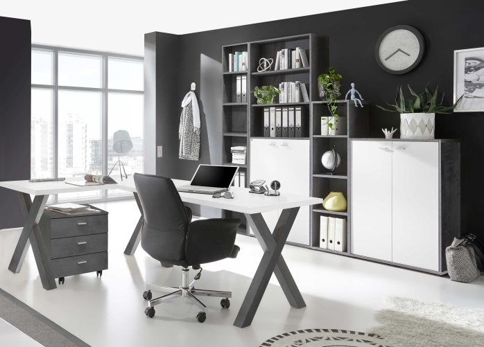 Büro Mister Office von Mäusbacher in Graphit- Weiß zum Superpreis!