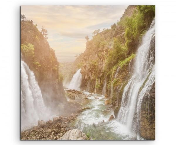 Landschaftsfotografie – Beeindruckende Wasserfälle auf Leinwand