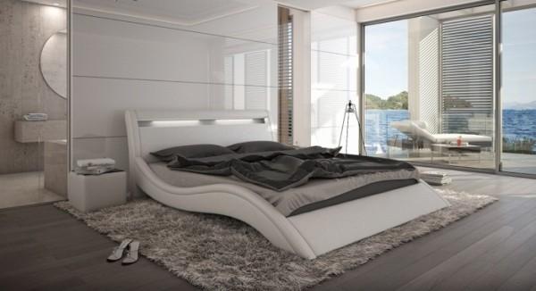 Bett Modani 140 x 200 cm Weiß