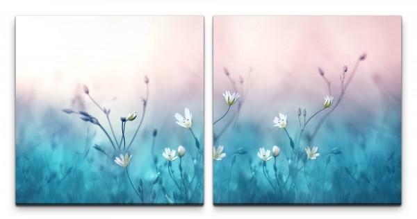 kleine Blumen Wandbild in verschiedenen Größen