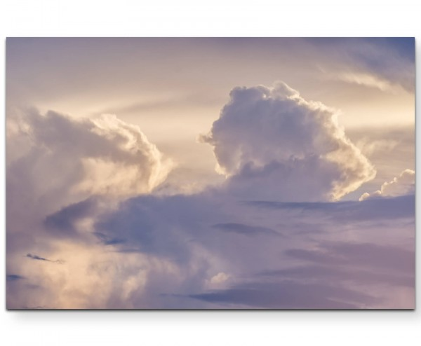 Wunderschöner Himmel mit Wolken - Leinwandbild