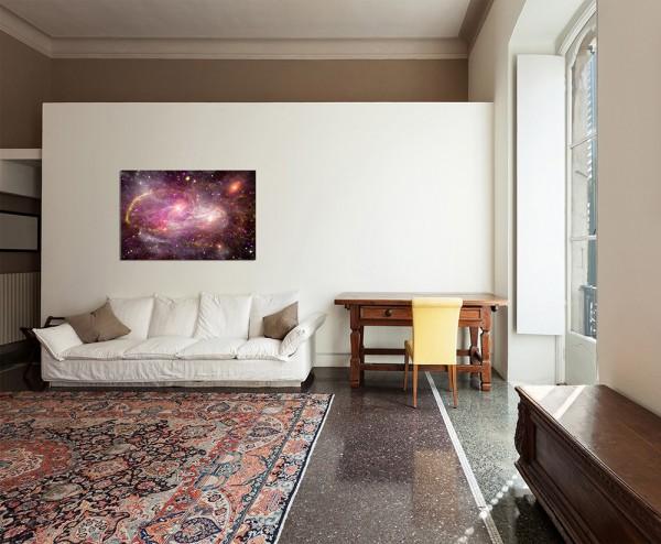 120x80cm Sterne Planet All Galaxie