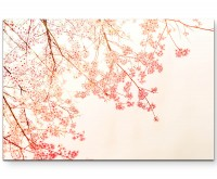 chinesische Kirschblütenzweige im Vintagestyle - Leinwandbild
