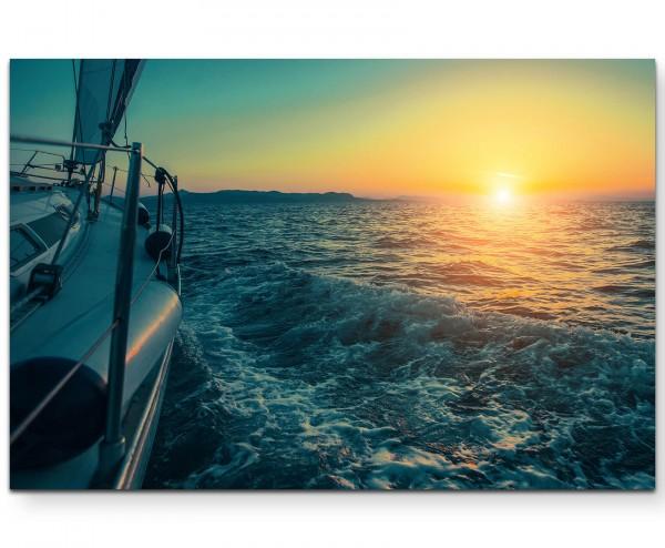 Schiff im Zwielicht der Ägäis - Leinwandbild