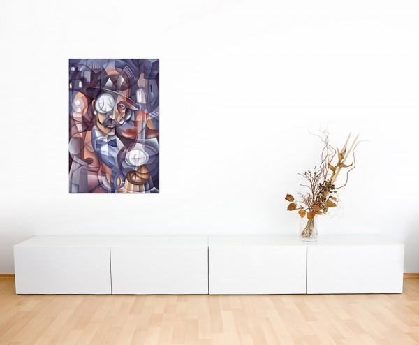 120x80cm Kubismus Gesicht Malerei abstrakt