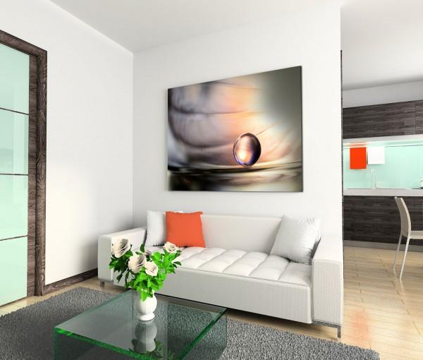 120x80cm Wandbild Kugel Hintergrund grau rosa