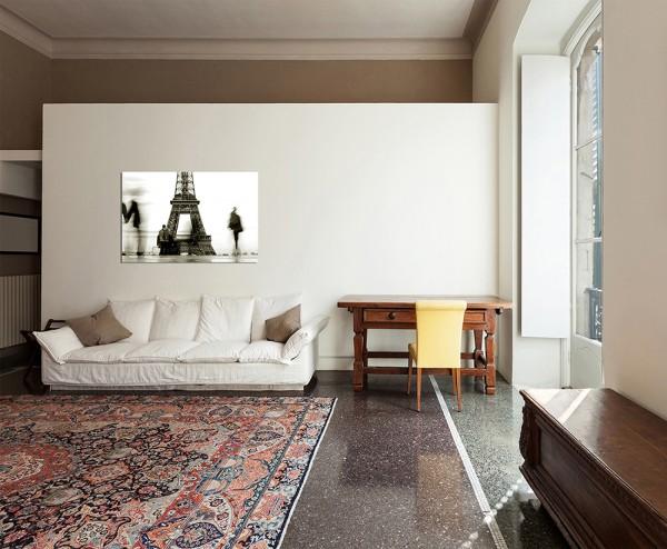 120x60cm Silhouette Mensch Eiffelturm