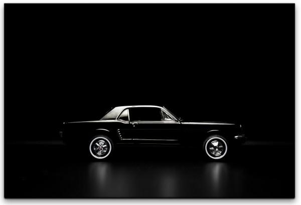 schwarzes Spielzeug Auto Wandbild in verschiedenen Größen