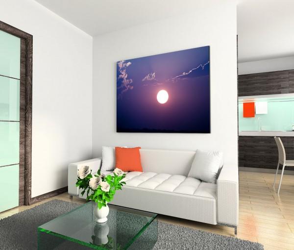 120x80cm Wandbild Himmel Wolkenschleier Sonnenuntergang