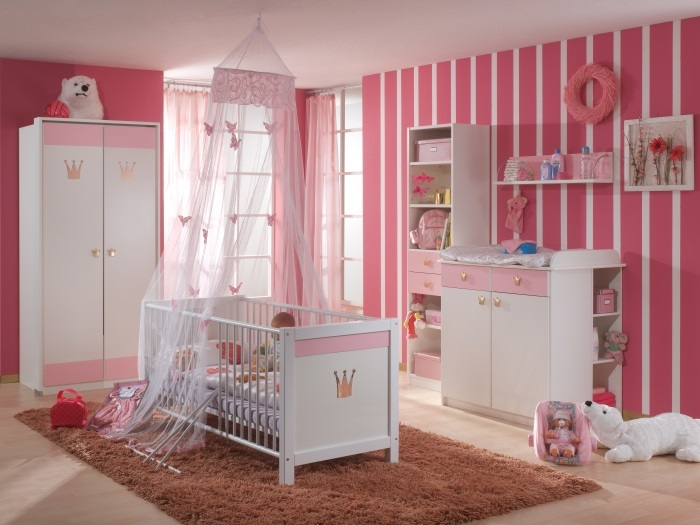 babyzimmer cinderella 3 teilig m bel. Black Bedroom Furniture Sets. Home Design Ideas