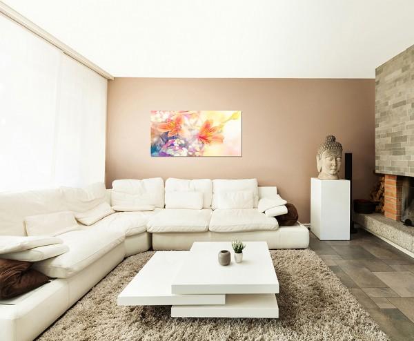 120x80cm Blumen Blüten abstrakt bunt Hintergrund