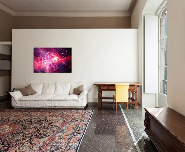 120x80cm Planet Sterne Weltraum Galaxie All
