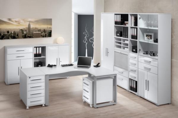 Büro Office System I Icy-Weiß- Weiß 10tlg