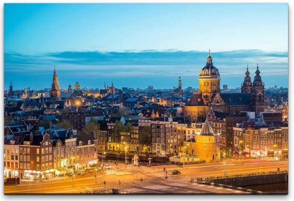 Amsterdam Skyline Wandbild in verschiedenen Größen
