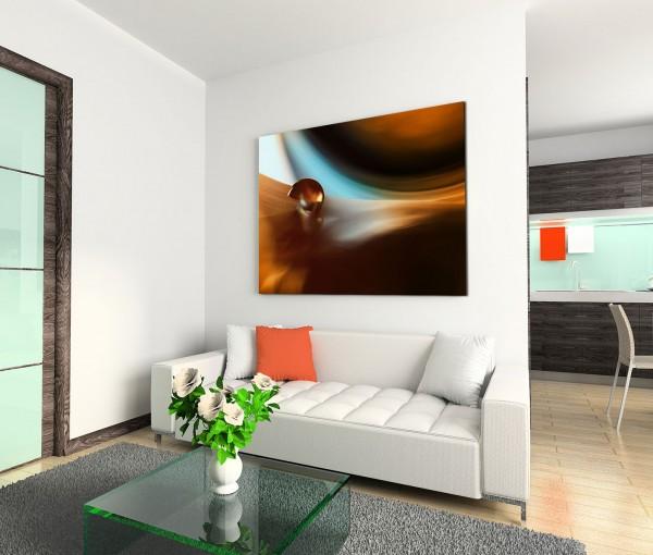 120x80cm Wandbild Hintergrund abstrakt braun blau