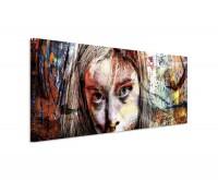 Portrait einer jungen Frau auf Leinwand exklusives Wandbild moderne Fotografie für ihre Wand in viel
