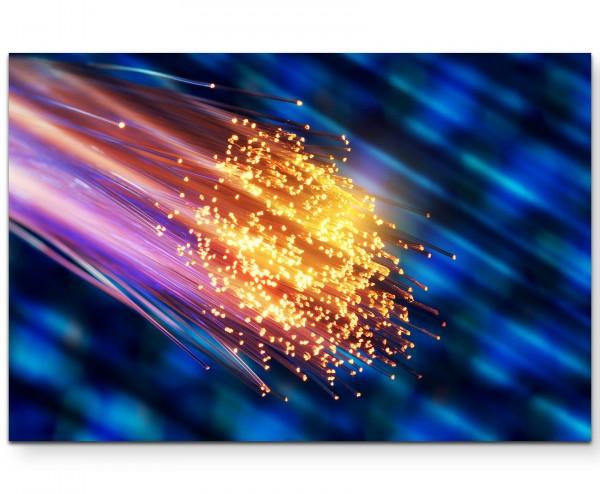 Glasfaser beleuchtet – Fotografie - Leinwandbild
