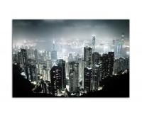 120x80cm Hong Kong Wolkenkratzer Nacht Lichter