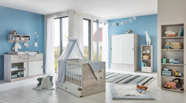 Babyzimmer Justus in Vintage Pinie Grau und Weiß von Arthur Berndt 7 teilig +++ von möbel-direkt+++ schnell und günstig