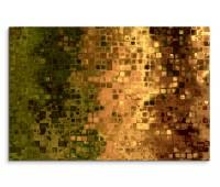 120x80cm Wandbild Hintergrund Kunst abstrakt Pixel grün braun gelb