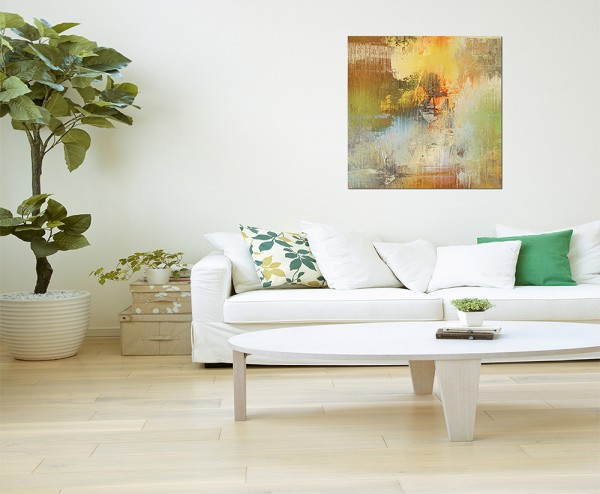 80x80cm Kunstdruckpapier farbenfroh abstrakt