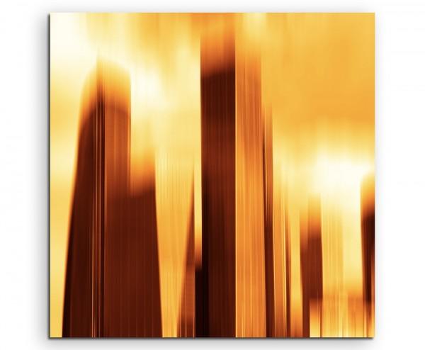 abstrakt modern chic chic dekorativ schön deko schön deko e Wolkenkratzer bei Sonnenaufgang auf Lein