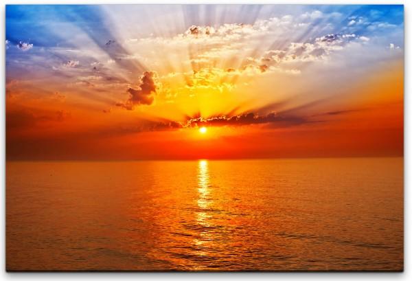 Meer mit Sonnenuntergang Wandbild in verschiedenen Größen