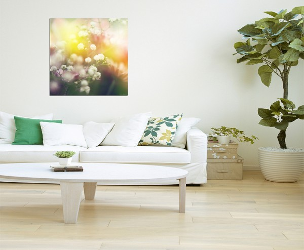 80x80cm Blüten Farben bunt abstrakt