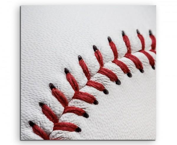 Künstlerische Fotografie – Baseball in Nahaufnahme auf Leinwand