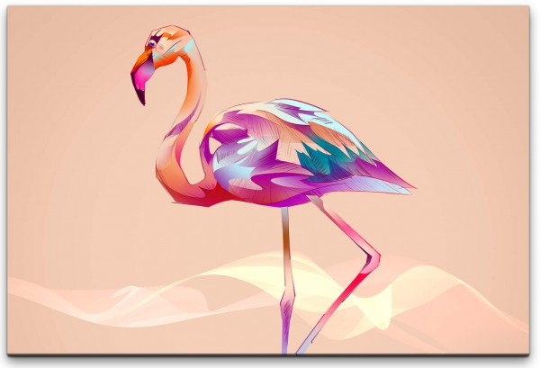 Flamingo Wandbild in verschiedenen Größen