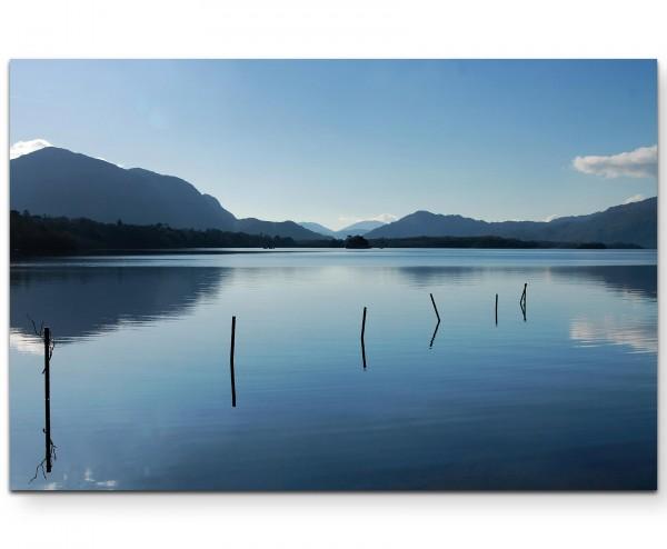 Naturfotografie – See mit Bergen Irland - Leinwandbild