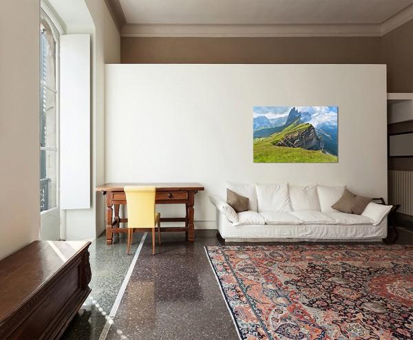 120x80cm Gebirgskette Alpen Natur Landschaft