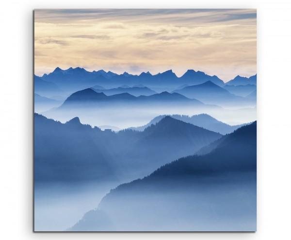 Landschaftsfotografie – Wendelstein Gebirge, Bayern auf Leinwand